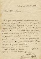 Eugenio Prati Lettera a Lucia Garbari in cui si comunica che Eugenio ha vinto la medaglia doro a Firenze